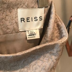 Reiss Skirts - Reiss gold / off-white pencil skirt (size 4 USA)